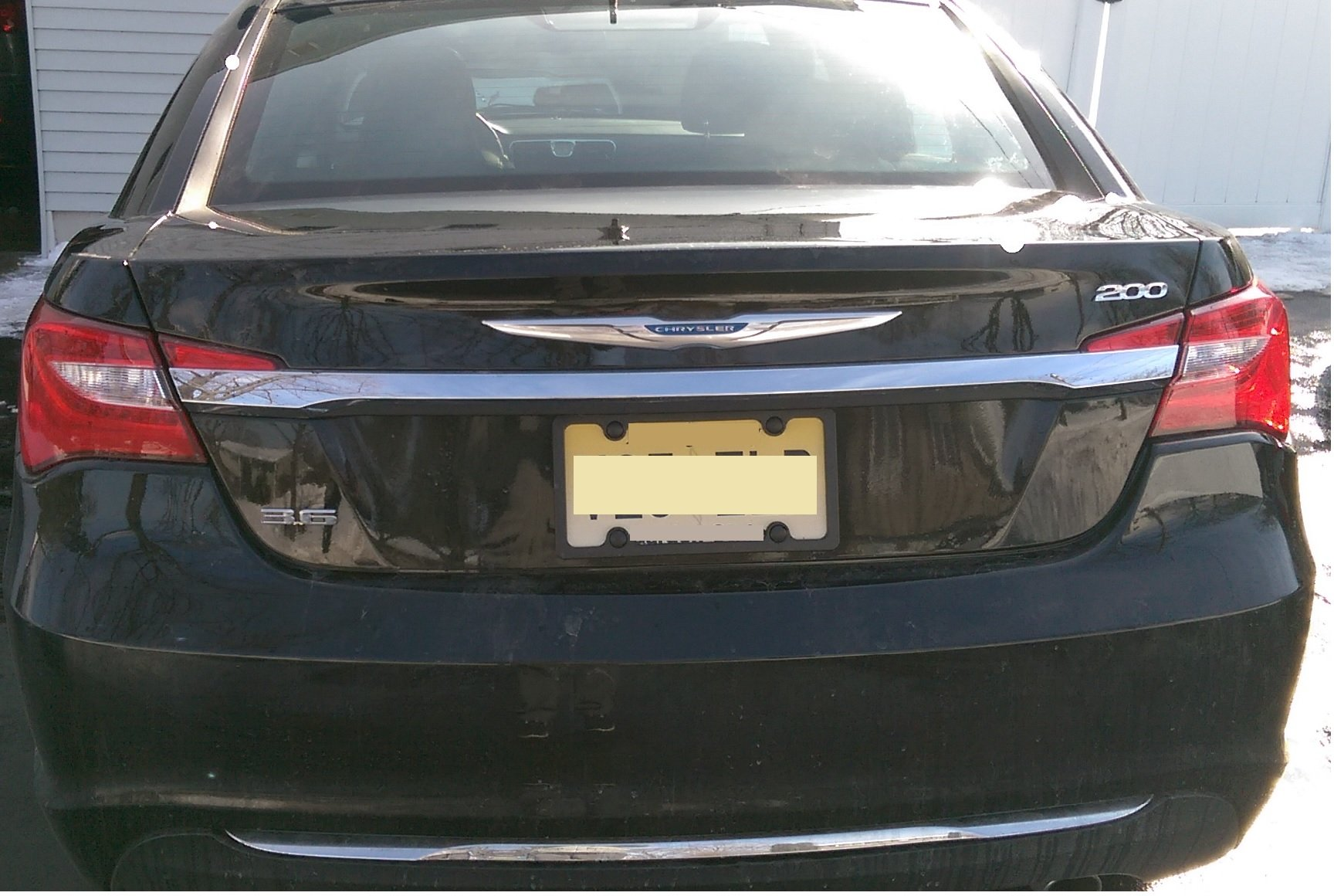 Chrysler 200 Limited >> Chrysler 200 and 3.6 Trunk Emblem