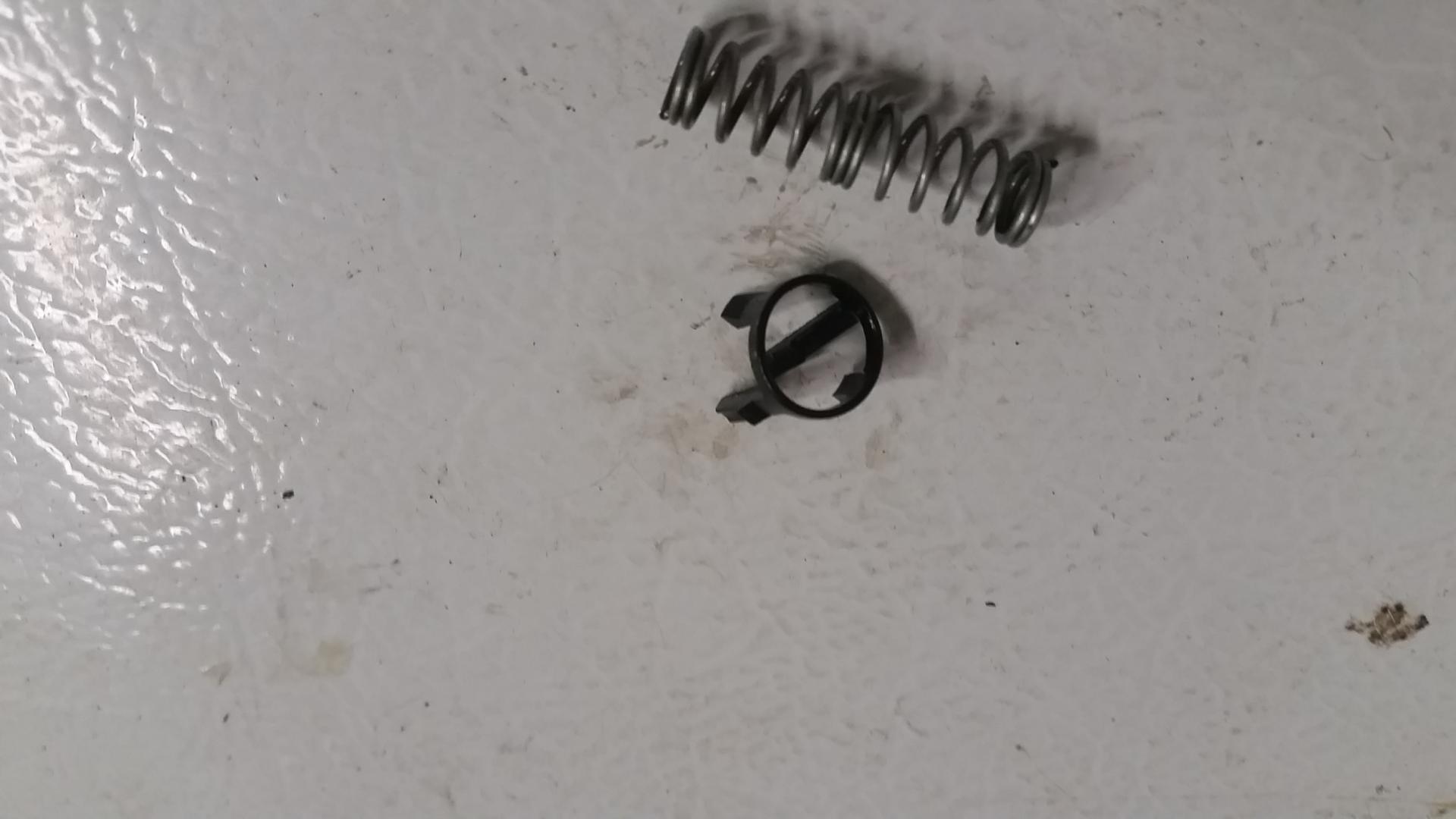 oil filter holding rod broken