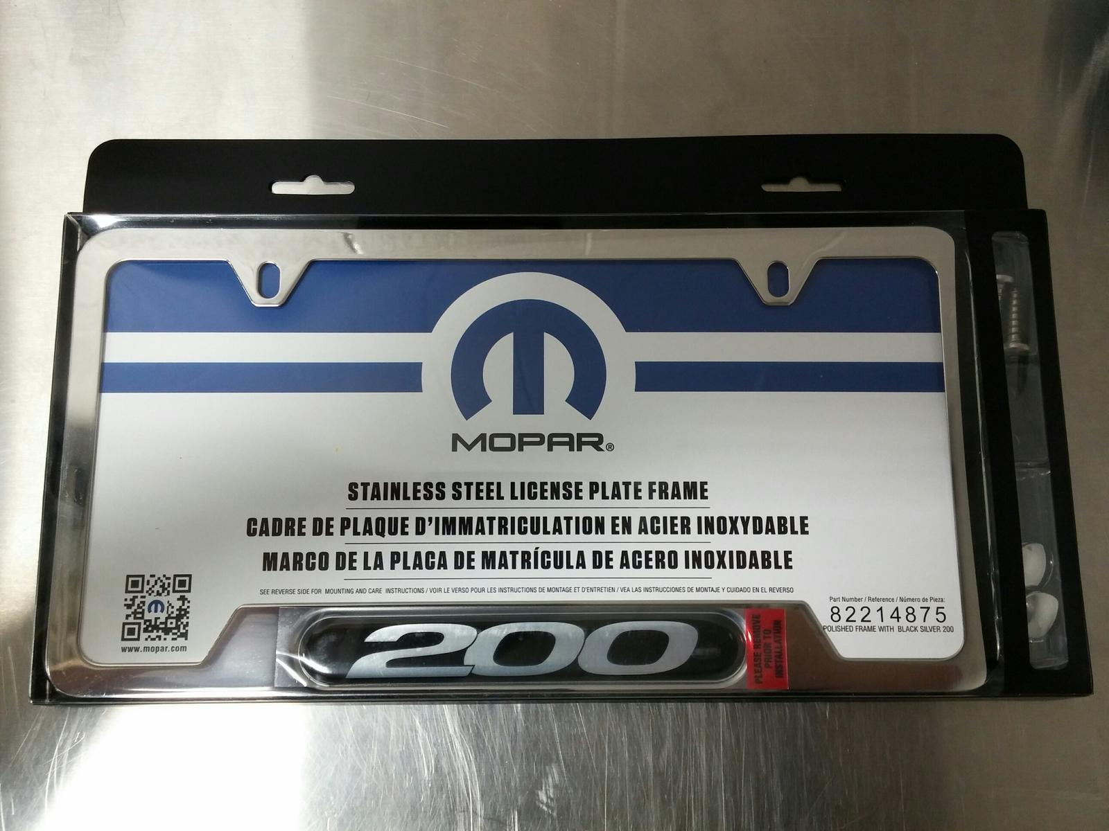 New mopar license plate frames