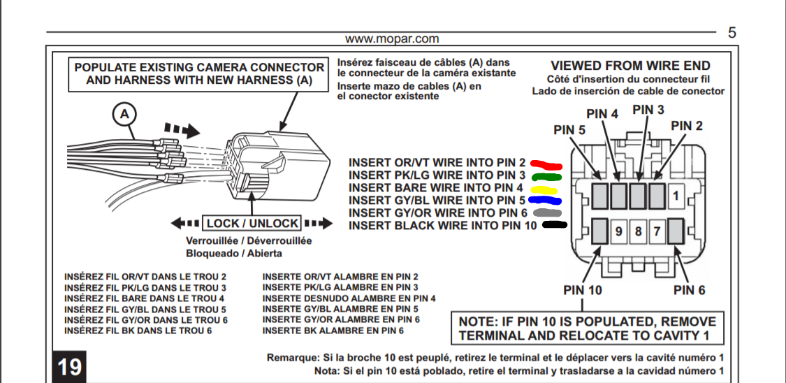 5 pin camera wiring diagram