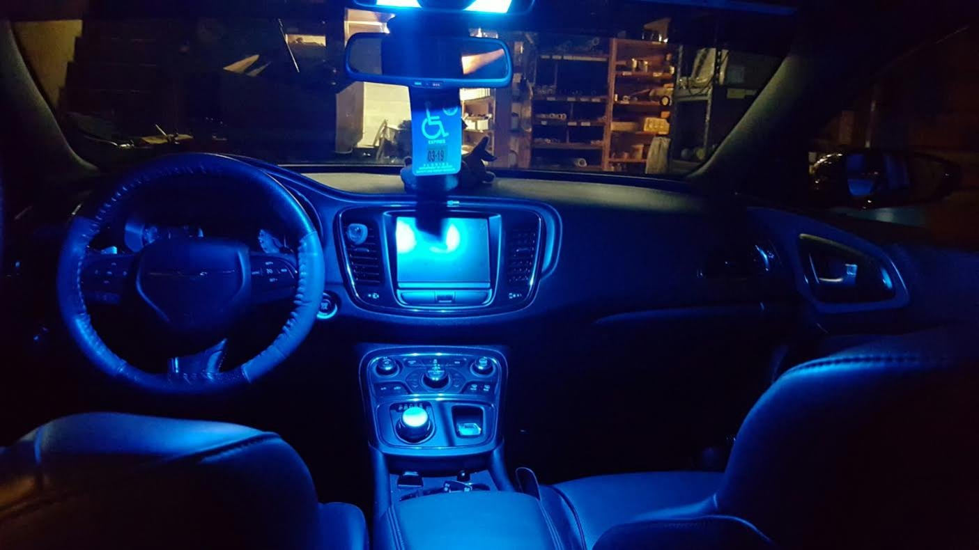 Passenger map light for 2016 chrysler 200 interior lights