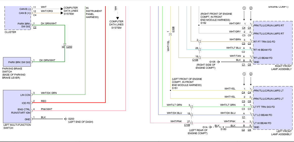 2011 Chrysler 200 Wiring Diagrams