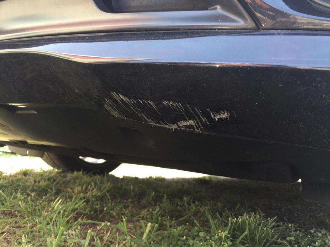 Scratched Underside Of Front Bumper