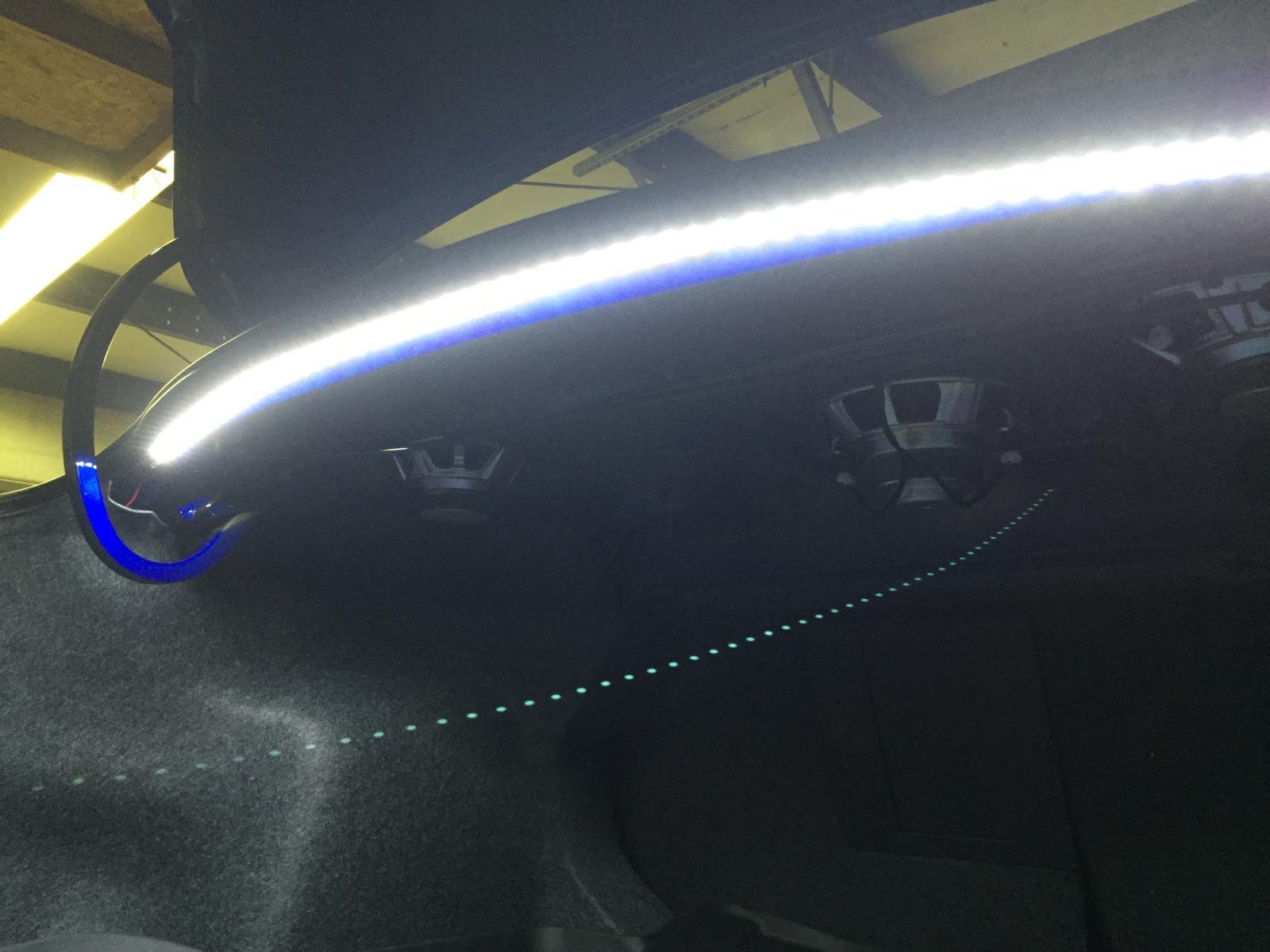 LED Trunk Light And Floor Liner Installed Img 0150