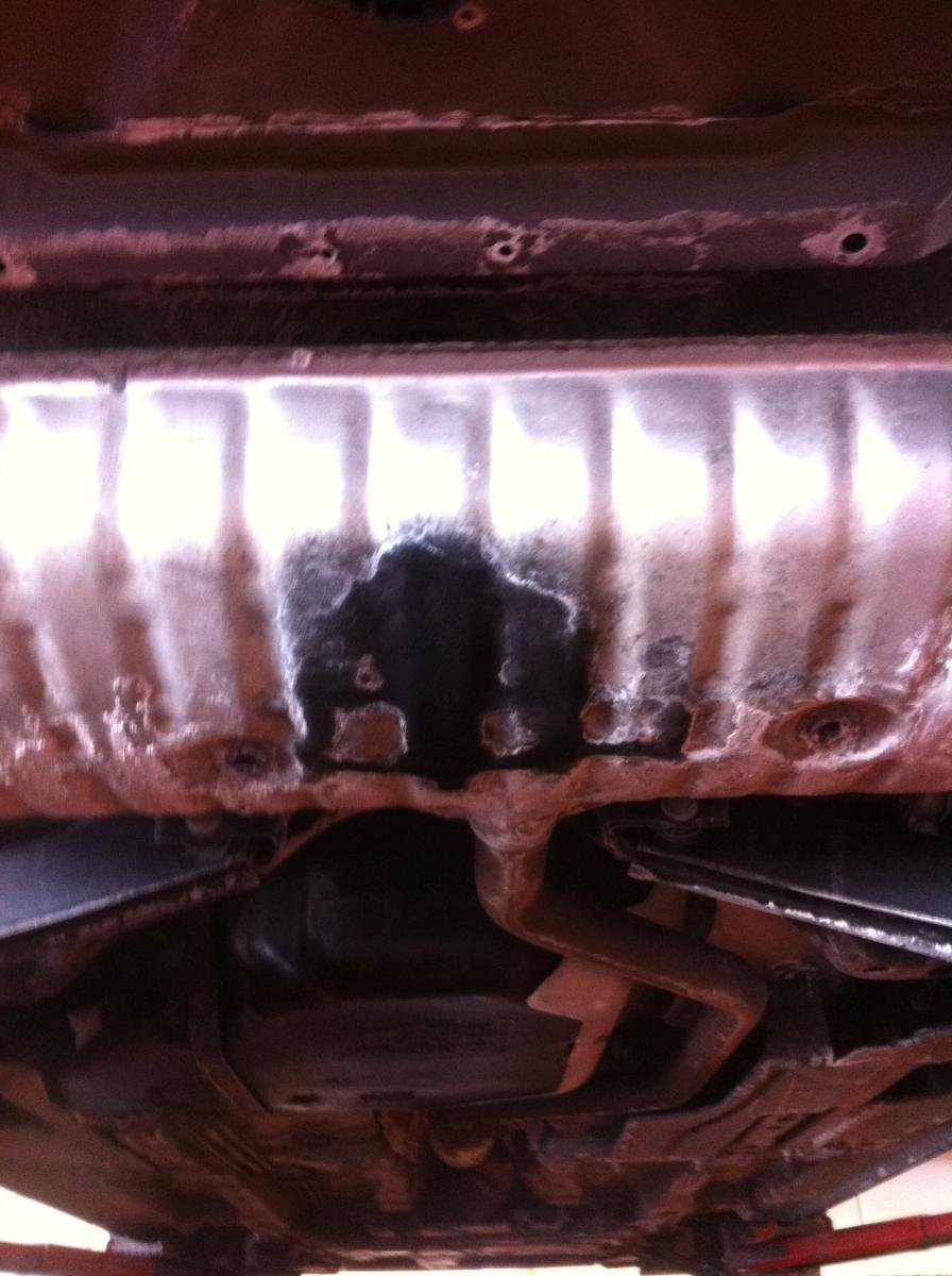 Exhaust Staining On Muffler Normal