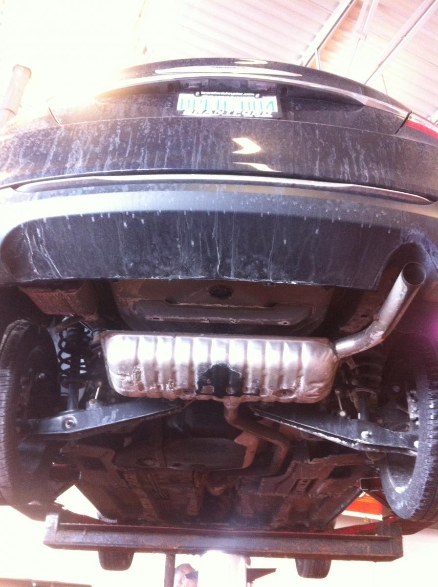 D Exhaust Staining Muffler Normal Muffler on 2012 Chrysler 200 Touring